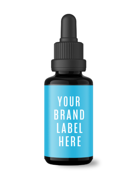 Curcumin Withe CBD White Label Tincture Bottle